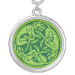Celtic pattern with dogs - green selbst gestalteter schmuck