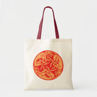 Celtic pattern with dogs - talk and orange bags