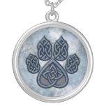 Celtic Paw Blue Necklace