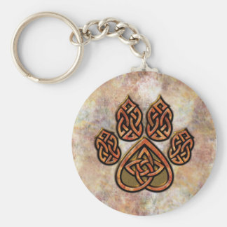 Celtic Pawprint Keychain