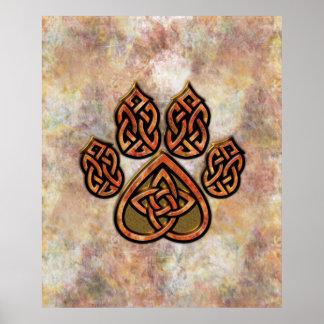 Celtic Pawprint Poster