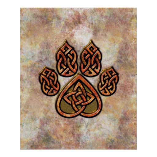 Celtic Pawprint Posters