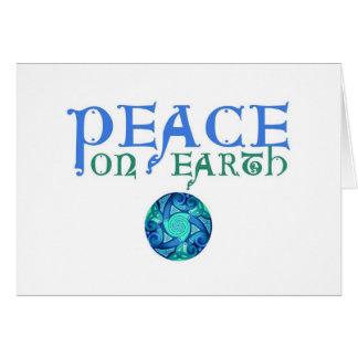 Celtic Peace on Earth Card