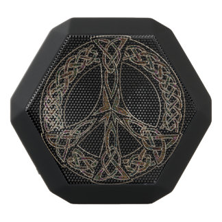 Celtic Peace Sign Bluetooth Speaker Black Boombot Rex Bluetooth Speaker
