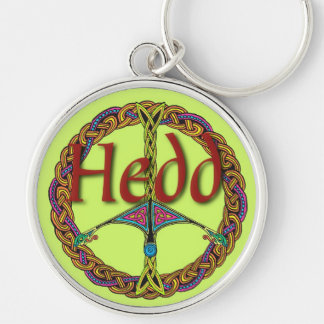 Celtic Peace Sign Keychain in Welsh