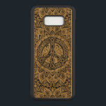 "Celtic Peace Sign Mandala Carved Samsung Galaxy S8  Case<br><div class=""desc"">Celtic Peace Sign Mandala Samsung Galaxy S8 Case. A gold mandala with a gold and black Celtic knot peace sign. Mandalas are a favorite symmetrical artistic tradition in both the Indian and Celtic Cultures. They are used in meditation to focus the mind and find a sense of serenity, peace and...</div>"