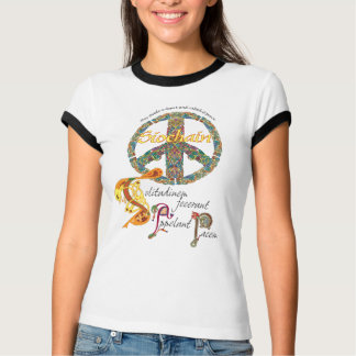 Celtic Peace Sign with Latin Quote and Irish T-Shirt