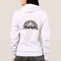 Celtic Peacocks Ladies Fleece Hoodie