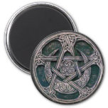 celtic pentacle 2 inch round magnet