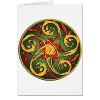 Celtic Pentacle Greeting Card