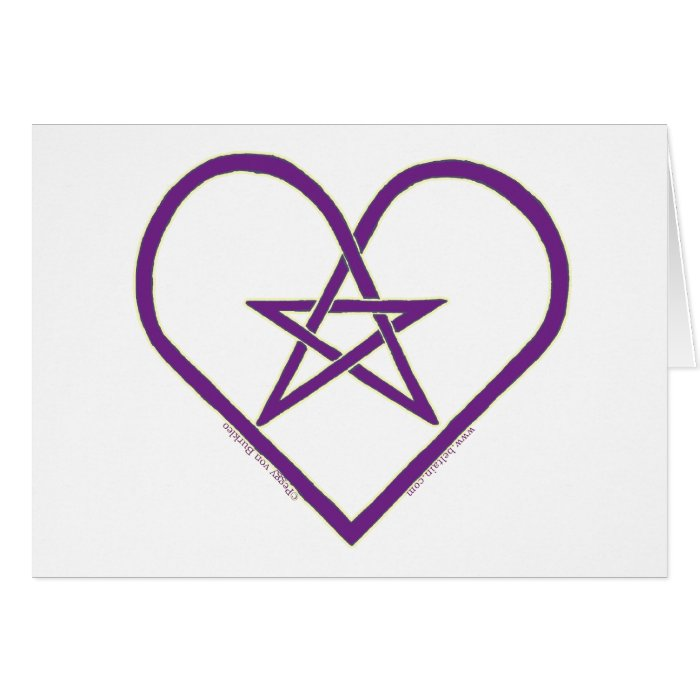 Celtic Pentacle Heart Design Cards