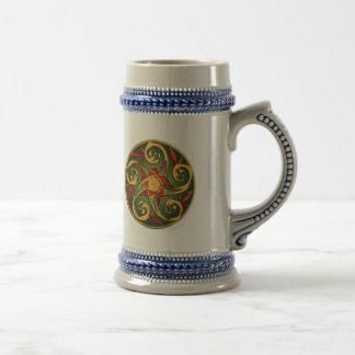 Celtic Pentacle Spiral 18 Oz Beer Stein