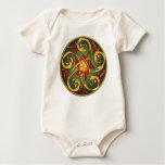 Celtic Pentacle Spiral Baby Bodysuit