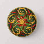 Celtic Pentacle Spiral Button