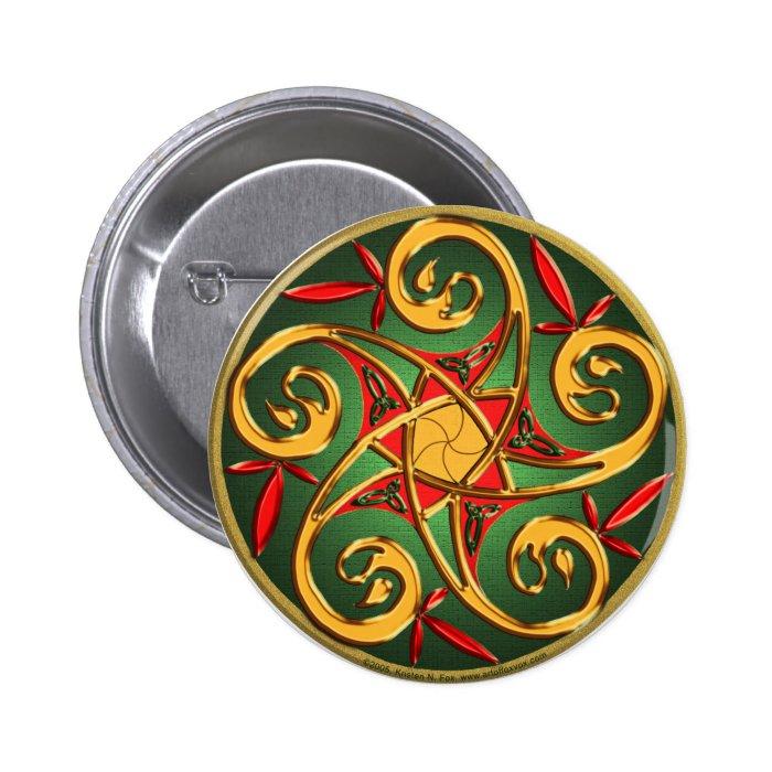 Celtic Pentacle Spiral Button