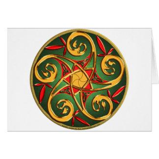 Celtic Pentacle Spiral Greeting Card
