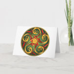 Celtic Pentacle Spiral Holiday Card