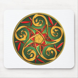 Celtic Pentacle Spiral Mouse Pad