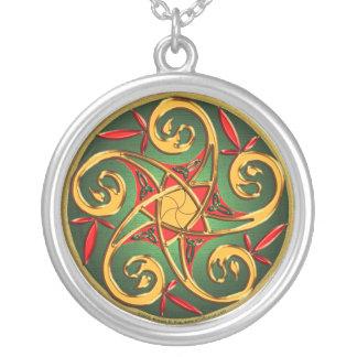 Celtic Pentacle Spiral Pendant Necklace