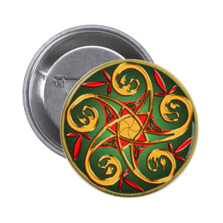 Celtic Pentacle Spiral Pinback Button