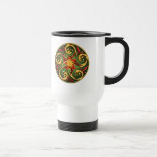 Celtic Pentacle Spiral Travel Mug