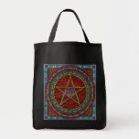 celtic pentagram 01 spellcraft tote bag