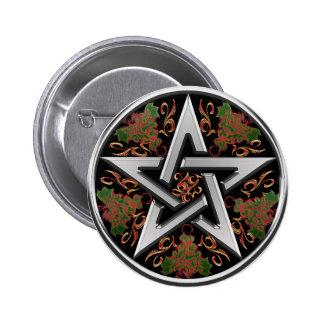 Celtic Pentagram Button