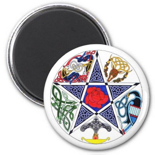 Celtic Pentagram Fridge Magnet