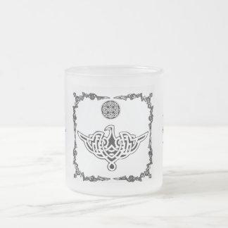Celtic Phoenix Frosted Glass Coffee Mug