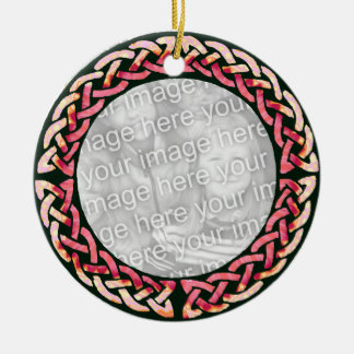 Celtic pink Round Ornament
