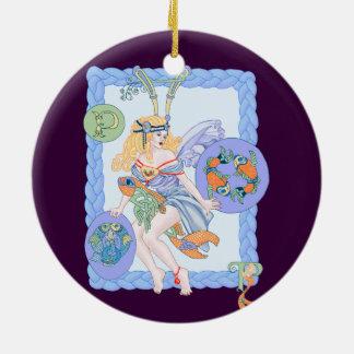 Celtic Pisces Ceramic Ornament