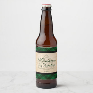 Celtic Plaid Beer Bottle Label