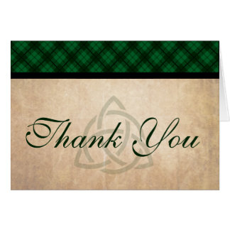 Celtic Plaid Thank You Cards