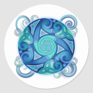 Celtic Planet Classic Round Sticker