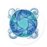 Celtic Planet Classic Round Sticker