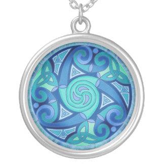 Celtic Planet Pendant Necklace
