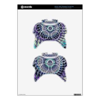 Celtic Platinum Knot on Pastel Fractal Xbox 360 Controller Skin