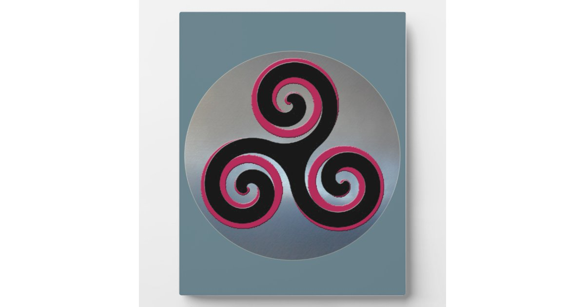 Celtic Powerful Good Luck Symbols Plaque Zazzle