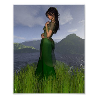 Celtic Princess in the Mountains Poster