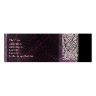 Celtic Profile Card Business Card Templates