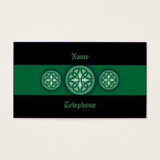 Celtic Profile Card - Green and Black 4