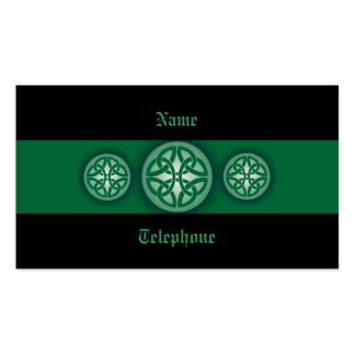 Celtic Profile Card - Green and Black 4 Double-Sided Standard Business Cards (Pack Of 100)