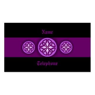 Celtic Profile Card - Purple and Black 4 Business Card Template