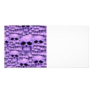 Celtic purple skull collage card