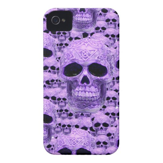Celtic purple skull collage iPhone 4 cover