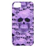 Celtic purple skull collage iPhone 5C cases