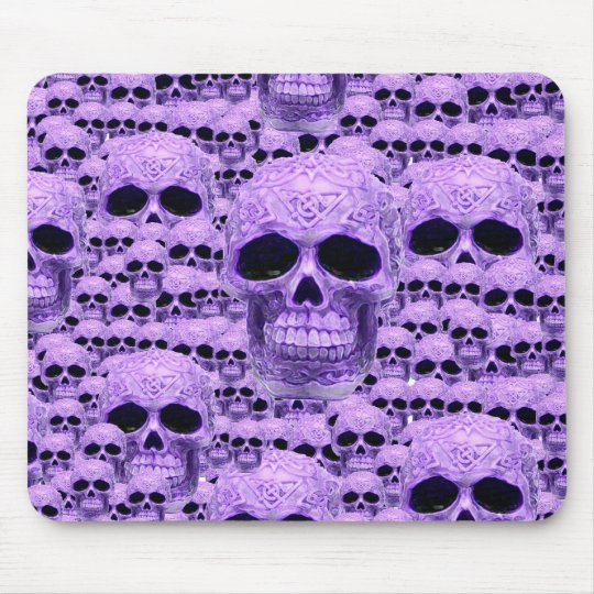 Celtic purple skull collage mouse pad