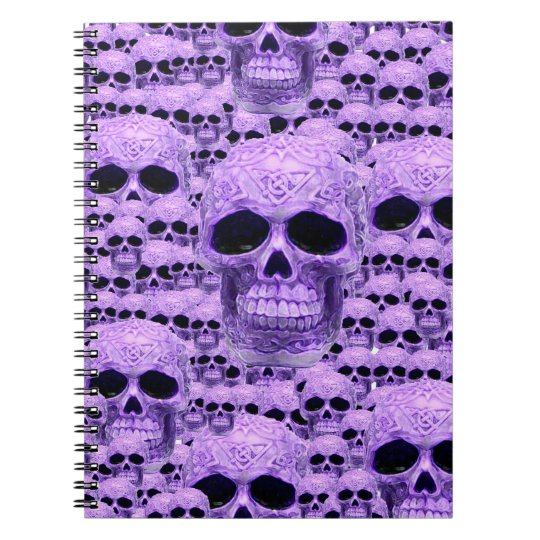Celtic purple skull collage notebook
