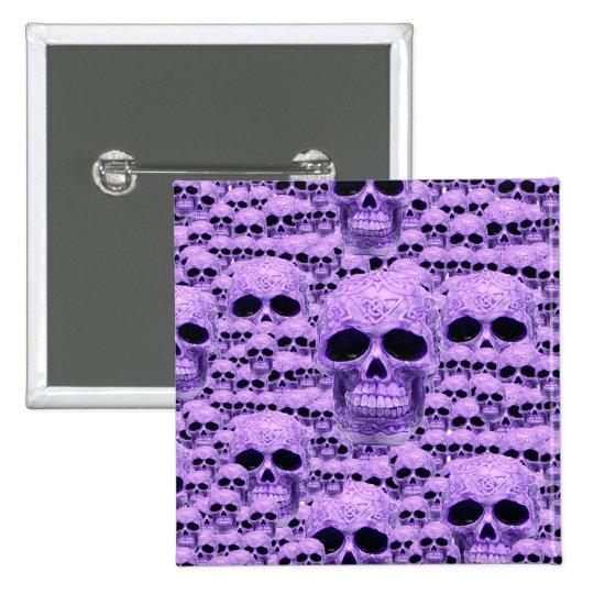 Celtic purple skull collage pinback button