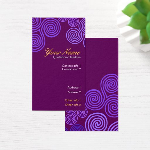 Celtic Purple Swirl Business Card
